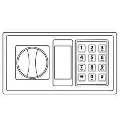 Electronic keypad vector