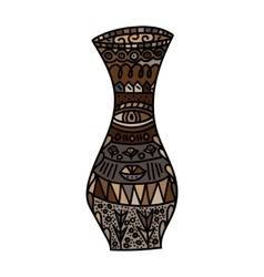 Brown vase vector