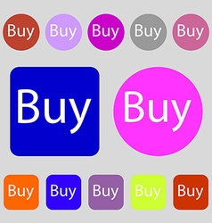Buy sign icon online buying dollar usd button 12 vector