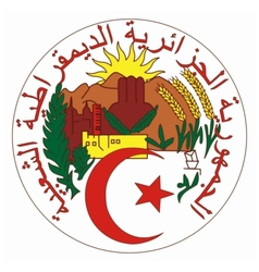Coat of arms of algeria vector