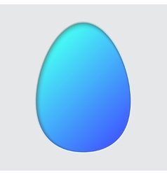 Easter egg silhouette vector