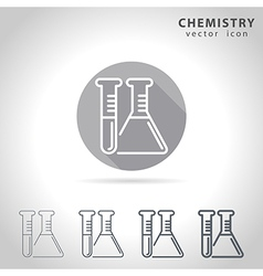 Chemistry outline icon vector