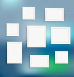 Different frames on blured background Template for vector image