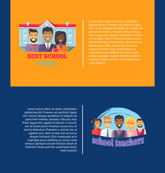 Best school teachrs poster set vector