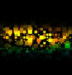 Brown orange green glowing various tiles vector