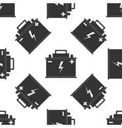 Car battery icon pattern vector