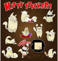 Cat stickers set vector