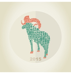 Christmas goat 2 vector
