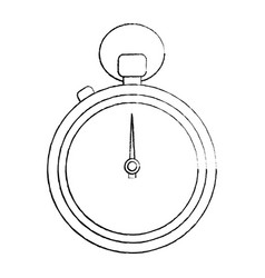 clock time stopwatch business icon vector image