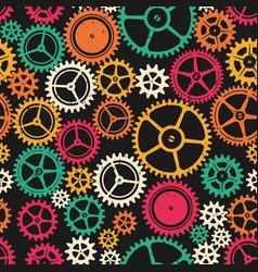 Colored clockwork seamless texture vector