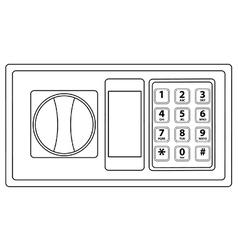 Electronic keypad vector image vector image