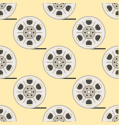 film cinema technology seamless pattern vector image