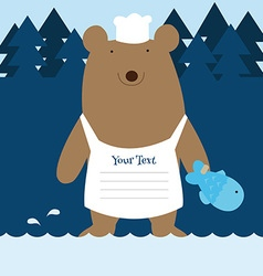 fishing bear vector image