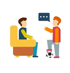 Friends and friendly relationship icon vector image