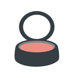 Isolated blush makeup vector