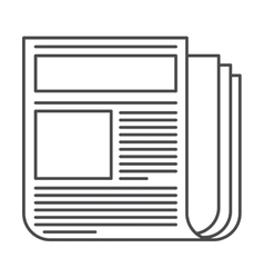 Isolated news paper design vector image