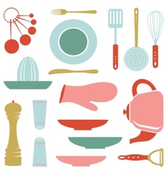Kitchen collection vector image vector image
