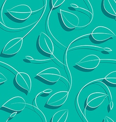 Leaves on a vine seamless pattern vector