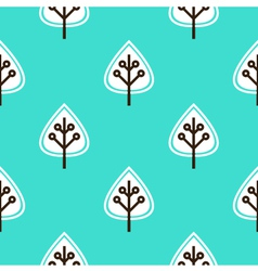 Leaves seamless pattern - blue vector image vector image