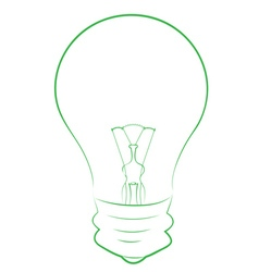 Line art of lightbulb vector