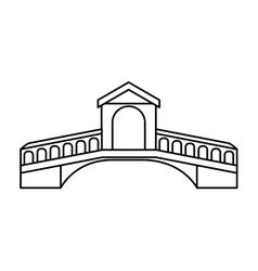 London bridge isolated icon vector