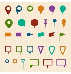 Map navigation pin pointer symbols vector