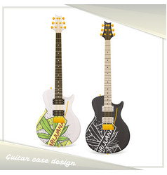 Medical marijuana guitar eight vector