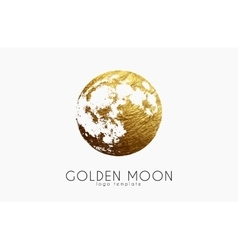 Moon logo design creative moon logo golden logo vector