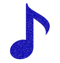 musical note icon grunge watermark vector image