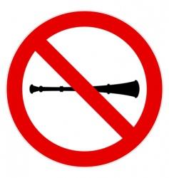 no vuvuzela sign vector image