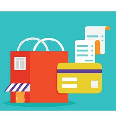 Payments by card mobile electronic payment vector