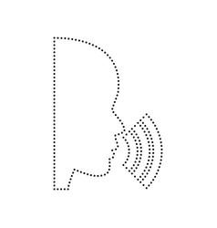 people speaking or singing sign black vector image