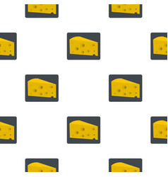 Piece of cheese pattern flat vector