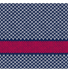 Seamless Marine Color Knitted Pattern vector image