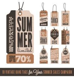 Summer Sales Hang Tags vector image
