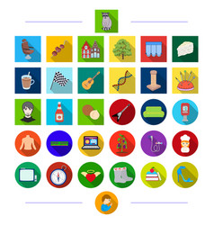 Travel cooking animals and other web icon in vector