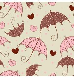 umbrella love pattern vector image