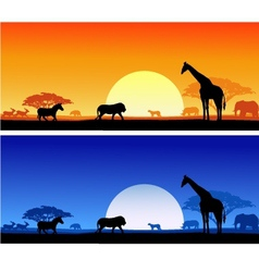 wildlife background vector image vector image