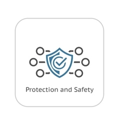 Protection and safety icon flat design vector