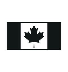 Flag canada on white background vector