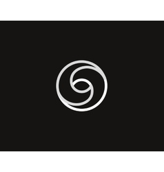 Eye swirl spiral infinity logo symbol design vector image