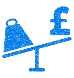 Market pound price swing grainy texture icon vector