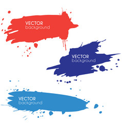 Set of brush strokes banners vector