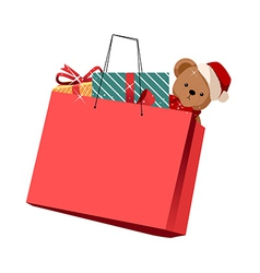 The gift bag vector