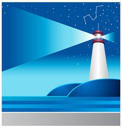 Lighthouse astrology sign vector