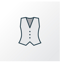 waistcoat colorful outline symbol premium quality vector image