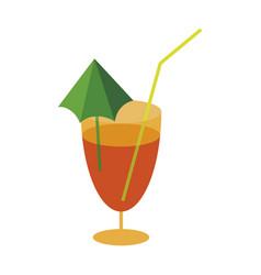 sweet dessert in flat design cocktail vector image