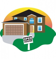 open house vector image
