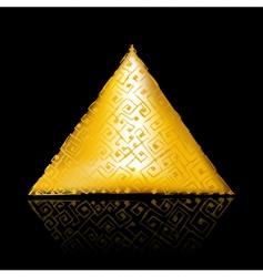 golden pyramid vector image