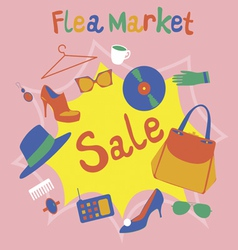 Flea market garage sale vector